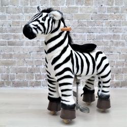 Каталка механическая лошадка Ponycycle (Поницикл) Зебра малая