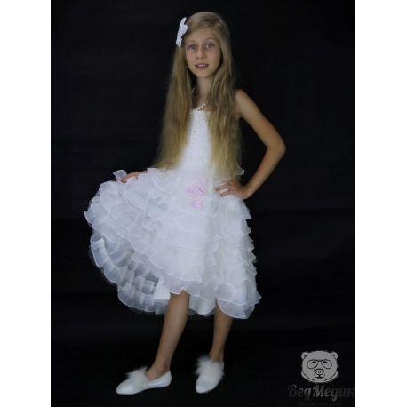 Детское белое нарядное платье прокат в Днепре