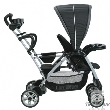 Двухместная коляска Room for 2 Stand and Ride Stroller, Graco.