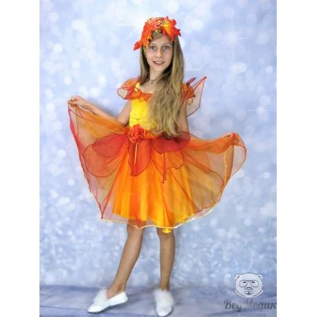 Детское платье «Фея осени» прокат в Днепре.