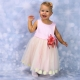 """Детское нарядное розовое платье """"Нежность"""""""