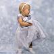 Детское нарядное серое платье с розочкой