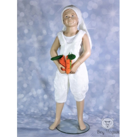 Детский карнавальный костюм «Зайчик с морковками»