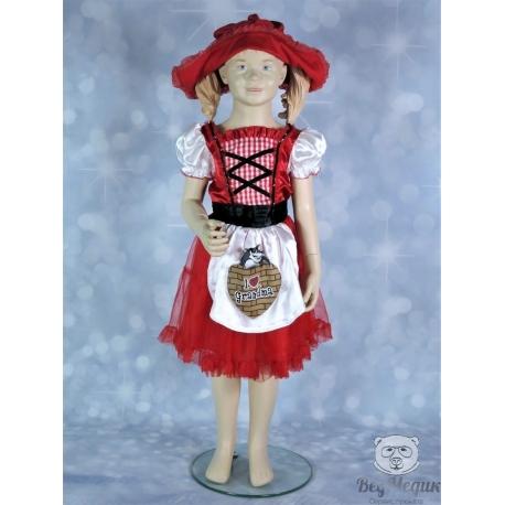 Карнавальный костюм (платье) «Красная шапочка»