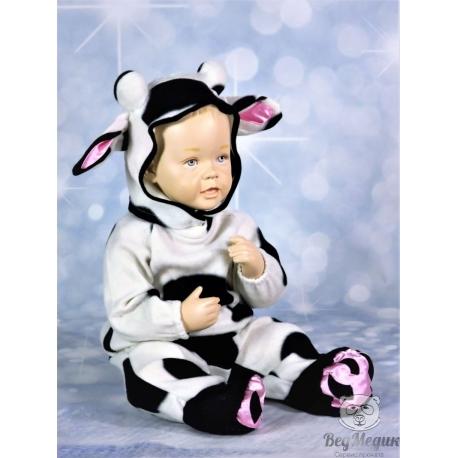 Детский карнавальный костюм «Коровка» (длинный)