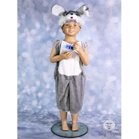 Детский карнавальный костюм «Зайчик серенький»