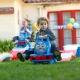 Детская горка с паровозиком Томас напрокат
